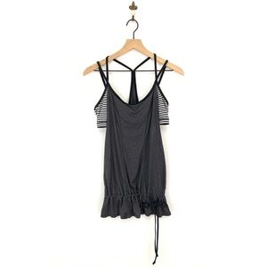 Lucy Yoga Racerback Tunic Tank Top Built In Bra